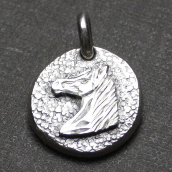 小さいコインの一点物手作りインディアンアクセサリー「ミニコインペンダント(ホースフェイス)」