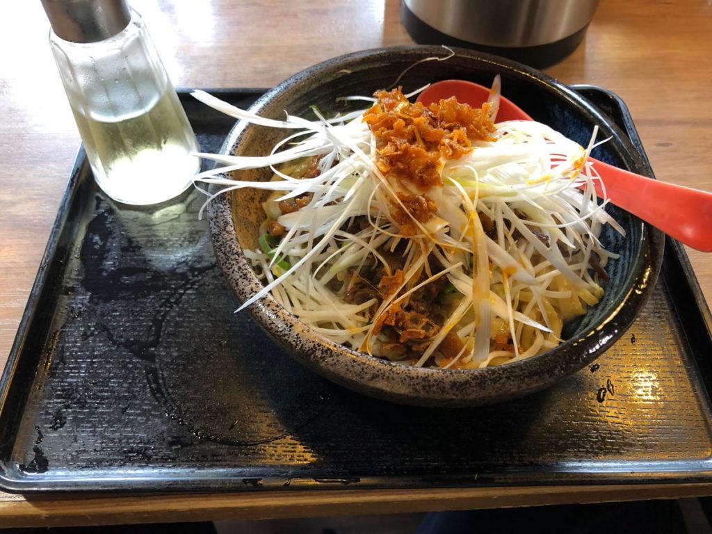 大阪・野田 にんにくラーメン天洋 汁なし担々麺