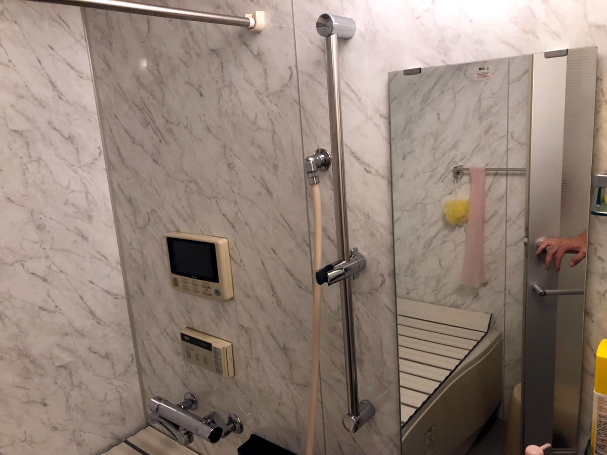 シャワースタンドLIXIL(リクシル) INAX スライドバー付シャワーフック 取り付け