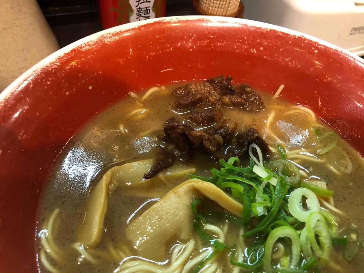 神戸・元町「麺王」徳島ラーメンのチャーシュー