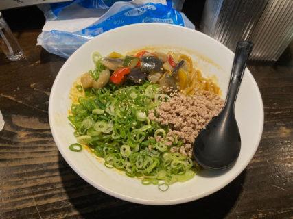 天王寺 汁なしゴリラ 汁なしカレー坦々麺